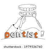 Dentist Hand Holding Drill Bit...