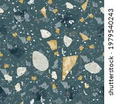 terrazzo seamless pattern. dark ... | Shutterstock .eps vector #1979540243