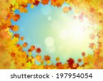 background image with autumn... | Shutterstock . vector #197954054