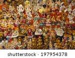 lots of various hindu souvenirs ... | Shutterstock . vector #197954378