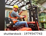 Waving Forklift Driver In The...