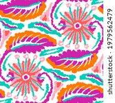 watercolor flower motif... | Shutterstock . vector #1979562479