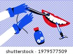 Dentist In Gloves Holding Drill ...