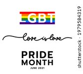 love is love pride month at...   Shutterstock .eps vector #1979584319