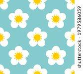 white flowers on blue... | Shutterstock .eps vector #1979586059