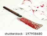 crime scene with an axe and... | Shutterstock . vector #197958680