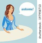 business woman   Shutterstock .eps vector #197958713