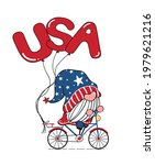 cute gnome 4th of july ... | Shutterstock .eps vector #1979621216