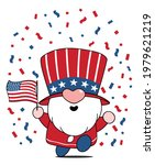 cute gnome 4th of july ... | Shutterstock .eps vector #1979621219