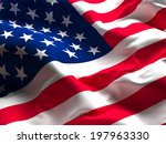 background og usa flag old glory | Shutterstock . vector #197963330