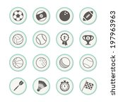 a set of sports icons  | Shutterstock .eps vector #197963963