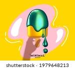 ice cream abstract 3d design....   Shutterstock .eps vector #1979648213