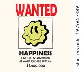 retro wanted slogan print with... | Shutterstock .eps vector #1979657489