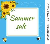 Summer Sale Square Frame With A ...