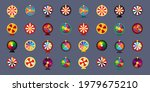 fortune wheel icon set  3d... | Shutterstock .eps vector #1979675210