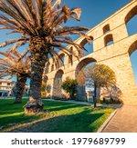 Sunny Cityscape Of Kavala Town...