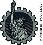 Liberty Statue Illustration...