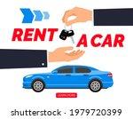 rent a car dealer hand give key ...   Shutterstock .eps vector #1979720399