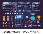 game ui kit. cartoon interface...