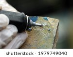 Clean Antique Tile By Hand With ...