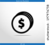 vector coins with dollar sign...