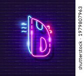 iron neon sign. glowing ironing ...   Shutterstock .eps vector #1979807963