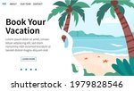 vector landing page with summer ...   Shutterstock .eps vector #1979828546