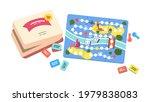 kids board game. throwing dice  ... | Shutterstock .eps vector #1979838083