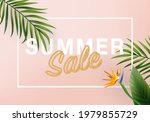 3d summer tropical sale... | Shutterstock .eps vector #1979855729