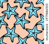 seamless pattern vector blue... | Shutterstock .eps vector #1979886503