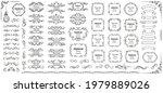 calligraphic design elements .... | Shutterstock .eps vector #1979889026