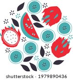 vector fruits illustration.... | Shutterstock .eps vector #1979890436