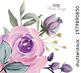 elegant vector floral...   Shutterstock .eps vector #1979890850