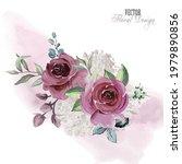 elegant vector floral...   Shutterstock .eps vector #1979890856