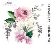 elegant vector floral...   Shutterstock .eps vector #1979890859