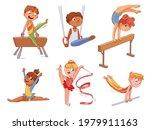 rhythmic gymnastics. kids... | Shutterstock .eps vector #1979911163