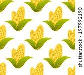 seamless pattern of farm fresh... | Shutterstock .eps vector #197992190