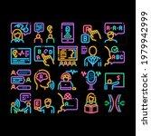 speech therapist help neon...   Shutterstock .eps vector #1979942999