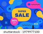 flat super sale background.  ...   Shutterstock .eps vector #1979977100