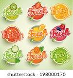 set fresh grapefruit  carrot ... | Shutterstock .eps vector #198000170