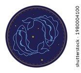 twelve horoscope symbol  pisces ...   Shutterstock .eps vector #1980004100