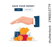 save your money concept.... | Shutterstock .eps vector #1980015779