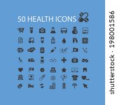 50 health icons set  vector | Shutterstock .eps vector #198001586