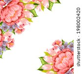 abstract flower background with ... | Shutterstock . vector #198002420