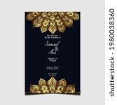 mandala template with elegant ...   Shutterstock .eps vector #1980038360