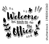 message 'welcome back to the... | Shutterstock .eps vector #1980041060
