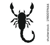 scorpio tattoo icon. simple...   Shutterstock .eps vector #1980059666