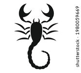 scorpio animal icon. simple...   Shutterstock .eps vector #1980059669
