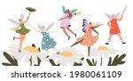group of cartoon cute fairies...   Shutterstock .eps vector #1980061109