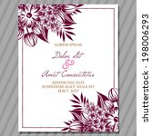 wedding invitation cards with...   Shutterstock . vector #198006293